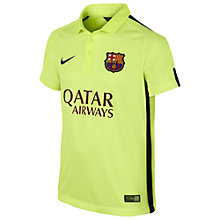 Buy Nike Barcelona Third Junior Replica Football Shirt 2014/15, Volt Online at johnlewis.com