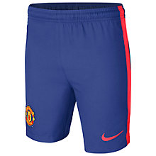 Buy Nike Manchester United Third Replica Junior Football Shorts, Old Royal Online at johnlewis.com