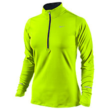 Buy Nike Element Half Zip Long Sleeve Running Top, Yellow Online at johnlewis.com