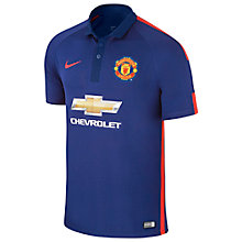 Buy Nike Manchester United Replica Third Shirt 2014/15, Blue Online at johnlewis.com