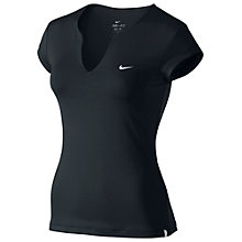Buy Nike Pure Short Sleeve Tennis Top, Black Online at johnlewis.com