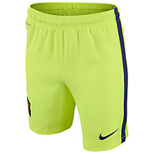 Buy Nike Barcelona Replica Junior Third Shorts, Volt Online at johnlewis.com