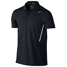 Buy Nike Power UV Tennis Polo Shirt, Black Online at johnlewis.com