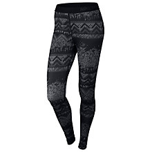 Buy Nike Pro Hyperwarm Printed Base Layer Tights, Black/Metallic Online at johnlewis.com