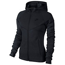 Buy Nike Tech Windrunner Full Zip Hoodie, Black Online at johnlewis.com