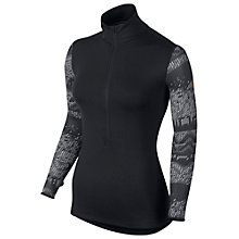 Buy Nike Pro Hyperwarm Fitted Nordic Half-Zip Top, Black/Metallic Gold Online at johnlewis.com