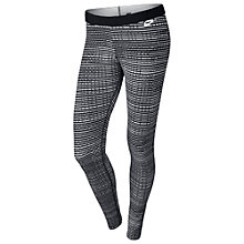Buy Nike Leg-A-See Print Leggings, Black/White Online at johnlewis.com