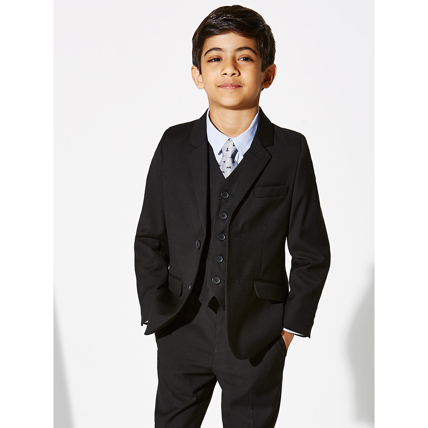 Buy John Lewis Heirloom Collection Boys' Suit Jacket, Black | John