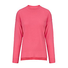 Buy Whistles Bea Cashmere Mix Zip Knitted Jumper, Pink Online at johnlewis.com