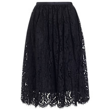 Buy Whistles Daisy Lace Skirt, Black Online at johnlewis.com
