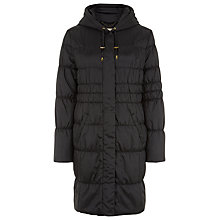 Buy Planet Quilted Hooded Coat, Black Online at johnlewis.com