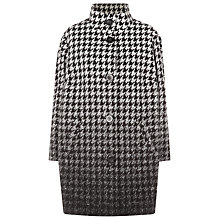 Buy Windsmoor Ombre Dogstooth Coat, Black Online at johnlewis.com