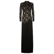 Buy Jacques Vert Beaded Fringe Gown, Black Online at johnlewis.com
