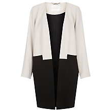 Buy Windsmoor Colour Block Longline Jacket, Black Online at johnlewis.com