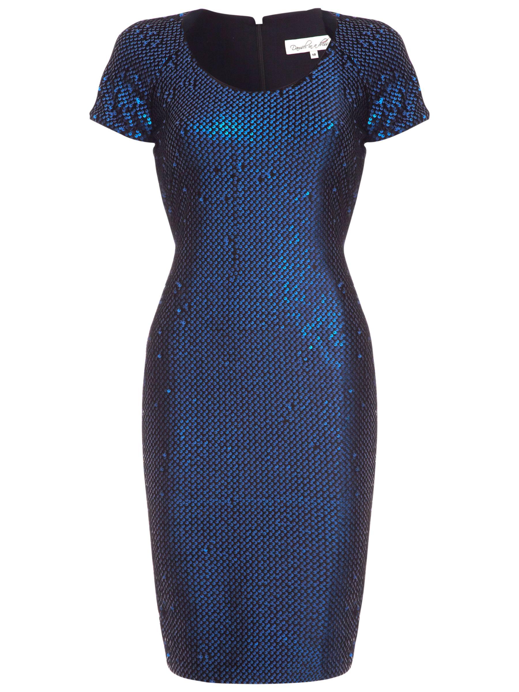 Damsel in a dress Albury Dress, Blue/Black
