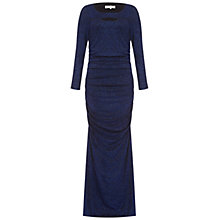 Buy Damsel in a dress Highcliff Dress, Black/Blue Online at johnlewis.com