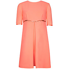 Buy Ted Baker Inverted Pleat A-line Dress, Coral Online at johnlewis.com
