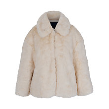 Buy French Connection Polar Teddy Faux Fur Jacket, Cream Online at johnlewis.com