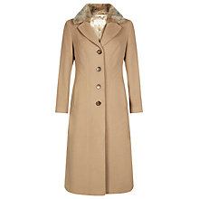Buy Precis Petite Long Wool Coat, Camel Online at johnlewis.com