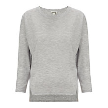 Buy Whistles Lauren Marl Jersey Top, Grey Marl Online at johnlewis.com