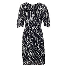 Buy Whistles Jocelyn Marble Print Dress, Black/White Online at johnlewis.com