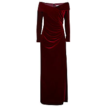 Buy Jacques Vert Lorcan Mullany Claret Asymmetric Velvet Gown Online at johnlewis.com