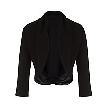Buy Jacques Vert Chiffon Knit Trim Bolero, Black Online at johnlewis.com
