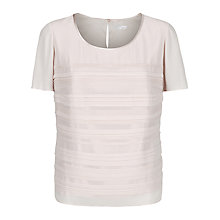 Buy Jacques Vert Pintuck Layer Top, Blonde Online at johnlewis.com