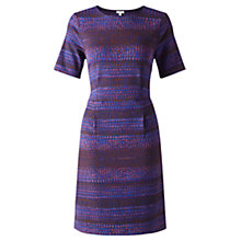 Buy Jigsaw Desert Rain Print Dress, Blue Online at johnlewis.com