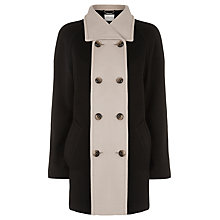 Buy Windsmoor Contrast Coat, Black Online at johnlewis.com