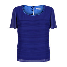Buy Jacques Vert Pintuck Layer Top, Cobalt Online at johnlewis.com