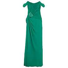 Buy Jacques Vert Bow Detail Gown, Emerald Online at johnlewis.com