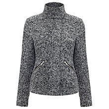 Buy Whistles Cassie Knitted Jacket, Grey Online at johnlewis.com