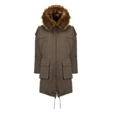 Buy Whistles Donnie Faux Fur Lined Parka Online at johnlewis.com