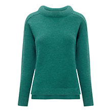 Buy Whistles Alyssa Padded Neck Jumper, Persian Green Online at johnlewis.com
