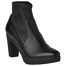 Buy L.K. Bennett Mai Nappa Leather Heeled Ankle Boots, Black Online at johnlewis.com