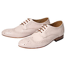 Buy H by Hudson Leather Lace-Up Brogues, Nude Online at johnlewis.com