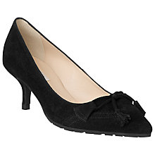 Buy L.K. Bennett Maeve Suede Tassel Court Shoes, Black Online at johnlewis.com