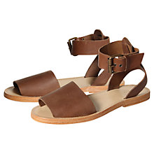 Buy H by Hudson Soller Leather Ankle Strap Sandals Online at johnlewis.com