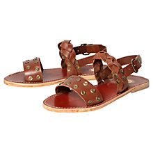 Buy H by Hudson Axis Leather Sandals, Tan Online at johnlewis.com