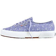 Buy Superga 2750 Fabric Plimsolls, Blue Iris Online at johnlewis.com