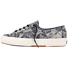 Buy Superga 2750 Fabric Vanity Plimsolls, Blue Online at johnlewis.com