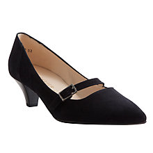 Buy Peter Kaiser Beborsia Suede Court Shoes, Black Online at johnlewis.com