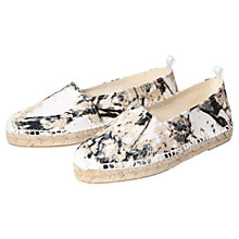 Buy H by Hudson Bali Leather Slip On Espadrilles Online at johnlewis.com