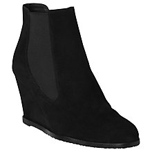 Buy L.K. Bennett Paris Suede Wedge Ankle Boots Online at johnlewis.com