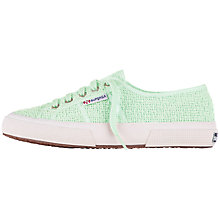 Buy Superga 2750 Crochet Plimsolls, Pastel Green Online at johnlewis.com