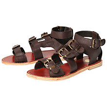 Buy H by Hudson Newton Leather Sandals, Brown Online at johnlewis.com