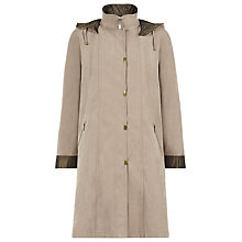 Buy Jacques Vert Suedette Mid Length Mac, Taupe Online at johnlewis.com