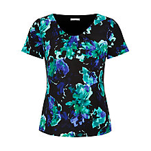 Buy Jacques Vert Blurred Floral Top, Multi Online at johnlewis.com