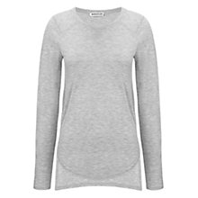 Buy Whistles Long Sleeved Layering T-Shirt, Pale Grey Online at johnlewis.com